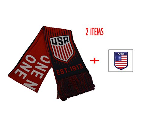 ICON USA Scarf US Soccer Official United Sates Winter and Sticker Flag (1)