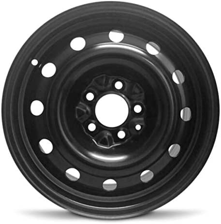 Road Ready Car Wheel for 1987-1996 Jeep Wrangler 16 inch 5 Lug Black Steel Rim Fits R16 Tire Exact OEM Replacement