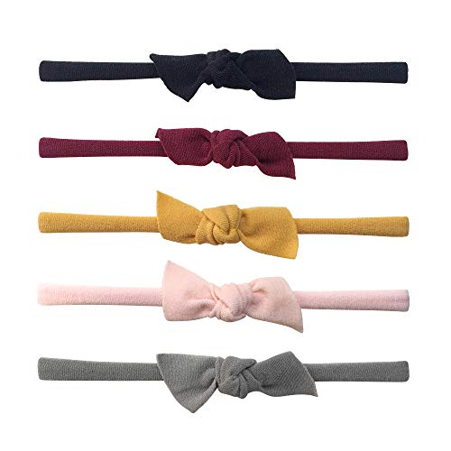 - Baby Girl Super Stretchy Headbands and Handtied Bows, Soft Knotted Hair Bands for Newborn