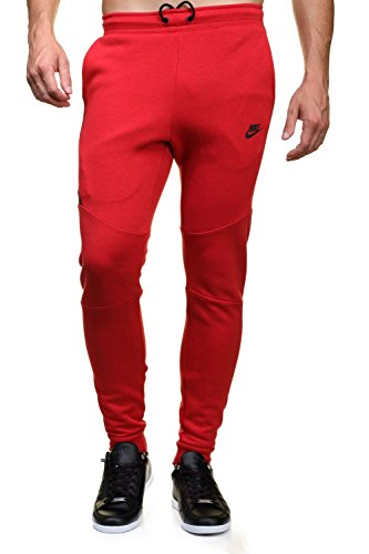 Nike Mens Sportswear Tech Fleece Jogger Sweatpants Universtiy Red/Black 805162-654 Size X-Large