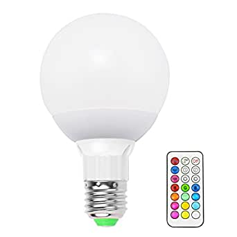Lemonbestreg; 10W E27 Dimmable RGBW LED Light Bulb Custom Timing Setting Colors Changing IR Wireless Remote Control with Memory Function RGB + Cool White