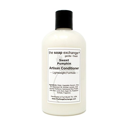The Soap Exchange Hair Conditioner - Sweet Pumpkin Scent - Hand Crafted 12 fl oz / 354 ml Natural Artisan Hair Care, Sulfate & Paraben Free, Nourish, Moisturize, Protect. Made in the USA.