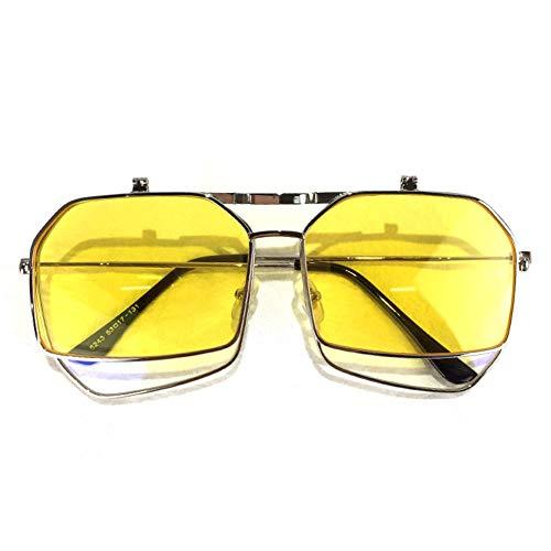 sol plano de NIFG gafas de marco moda espejo Gafas grande de sol personalidad de de 8x8C6tqYw