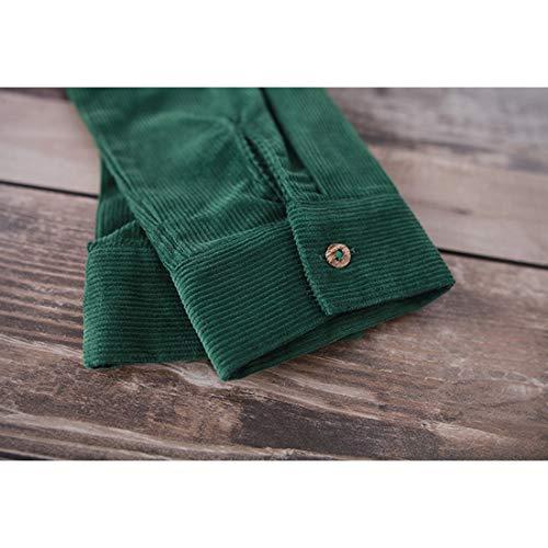 Lunga Xxl Size Da Per Joyiyuan Maglia Green Con Cotont Manica Green color Cappuccio Donna Abito C87qO