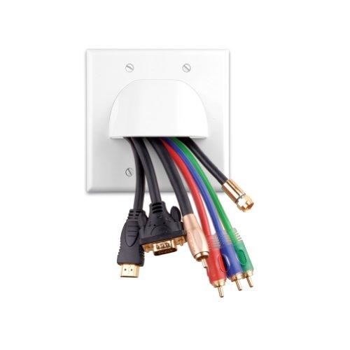 Vanco 120623X Bulk Cable 2-Gang Faceplate ()