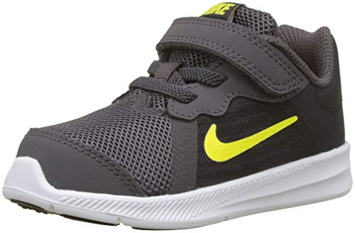 (NIKE Boy's Downshifter 8 Running Shoe (6 M US Toddler, Thunder Grey Dynamic Oil Yellow))