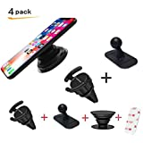 Car Mount for Pop Sockets, LoyaForba 360 Rotation Car Mount Air Vent Phone Holder and Dashboard Desk Wall Bracket Perfect for GPS Navigation and Pickup Truck Fits Any Smartphones