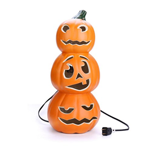 Pumpkin Decorations, Pumpkin Light, Trick or Treat Pumpkin Lamp with Warm White Light, Pumpkin Candle Holder,Bar,Party Celebration,High Brightness Jack-o'-lantern (15 (Large Outdoor Halloween Decorations)