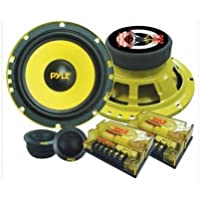 Pyle Gear X PLG6C 6.5 200W (RMS) / 400W (PMPO) Custom Component Speaker System (Pair) - NEW - Retail - PLG6C