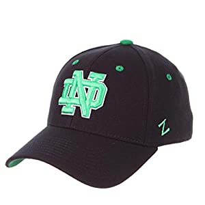 best cheap b69e9 f8757 ZHATS Notre Dame Fighting Irish Dark Navy Kelly Green ND DH Fitted Hat Cap  Mens Adult Size Medium Large