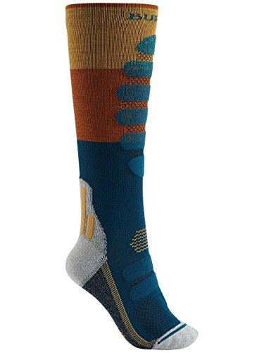 Burton Women's Performance Plus Lightweight Snowboard Socks (Balsam Block, M/L (7-10))