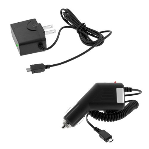 Universal Rapid Car Charger + Universal Home Travel Charger for Blackberry Playbook Tablet