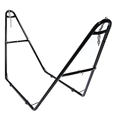 Sunnydaze Universal Multi-Use Steel Hammock Stand, 2 Person, Fits Hammocks 9 to 14 Feet Long, 440 Pound Capacity