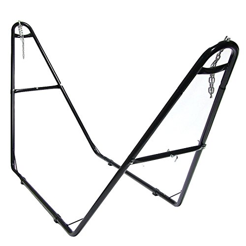 sunnydaze universal multiuse heavyduty steel hammock stand 2 person fits hammocks 9 to 14 feet long 440 pound capacity