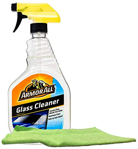 Armor All Auto Glass Cleaner (22 oz.), Bundled with Microfiber Cloth (2 Items)
