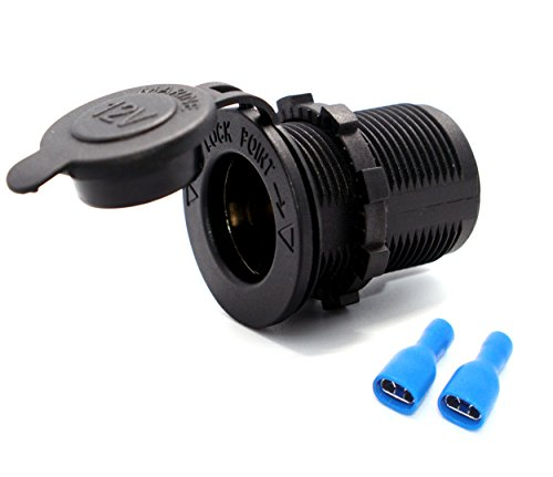 Price comparison product image Cllena Car Marine Boat Motorcycle ATV Rv Truck 12v Power Outlet Cigarette Lighter socket