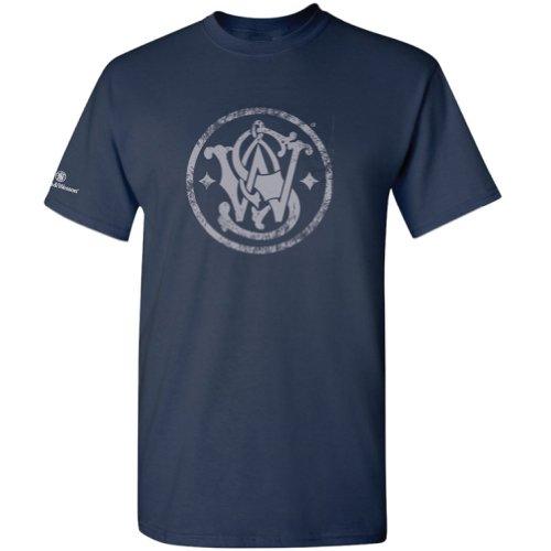 Smith & Wesson Men's Distressed Emblem T-Shirt (Navy - 3XL)