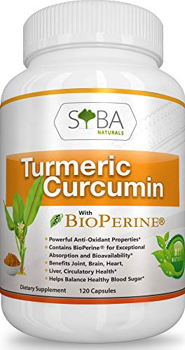Turmeric Curcumin with Bioperine Black Pepper – Fast Absorption – 2 Month Supply – Anti-Inflammatory Pain Support Antioxidant – Joint Relief Supplements – Highest Potency – Non-GMO Gluten Free