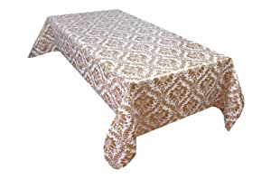 MG Oilcloth-Tablecloth Washable Moderno Gold - White ( 600-2 ) - 2000 X 140 Cm