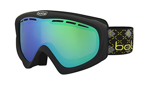 Bollé Y6 Otg Masque de Ski Mixte Y6 Otg Matte Black & Lime Green Emerald