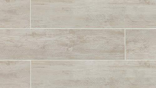 7-3/4 x 47-1/4 River Wood 8 x 48 Tile in Blanc, 1 SqFt
