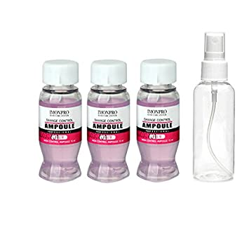 Hair Ampoules Damage Control 3 x 15ml with Spray Bottle - Repair dry  damaged hair - Pre & After