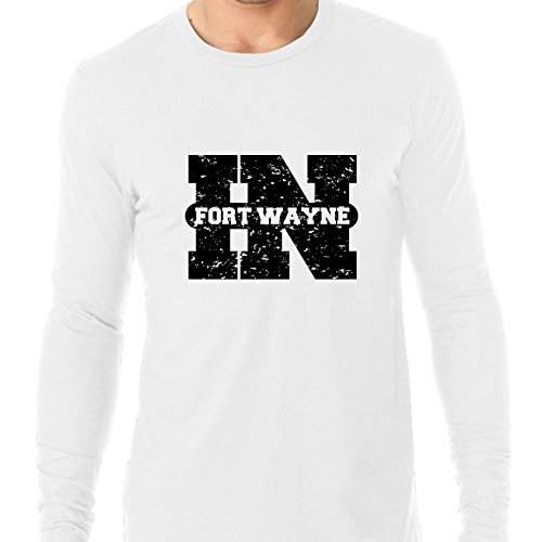 Hollywood Thread Fort Wayne, Indiana In Classic City State Sign Men's Long Sleeve T-Shirt