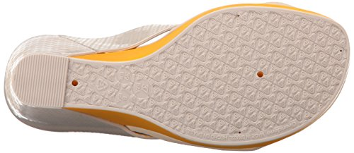 Zaxy Women's Glamour Top II Wedge Sandal Yellow CWDk99