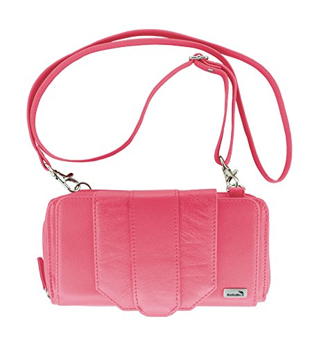 Purse Crossbody Fuchsia with WalletBe RFID Leather Pebbled Phone Wallet Women's Accordion Cell gCnWxHw6Oq