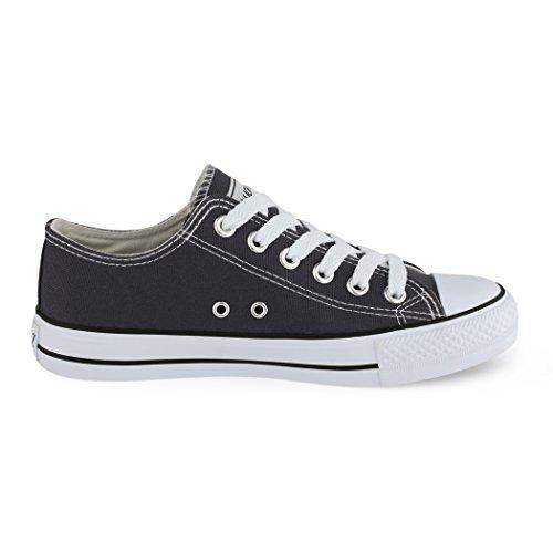 Best-botas para mujer zapatilla zapatillas zapatos de cordones estilo deportivo gris - gris oscuro
