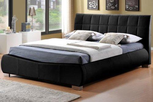 DORADO schwarz Kunstleder Bett 180cm Super King Size