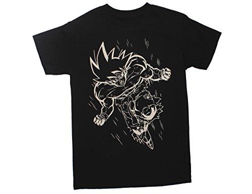 Ripple Junction Dragon Ball Z White Line Goku Adult T-Shirt