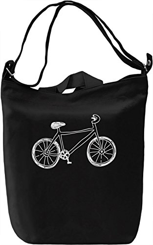 Doodle bike Borsa Giornaliera Canvas Canvas Day Bag| 100% Premium Cotton Canvas| DTG Printing|