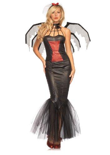 Leg Avenue Women's Widow Beauty Dress, Black, -