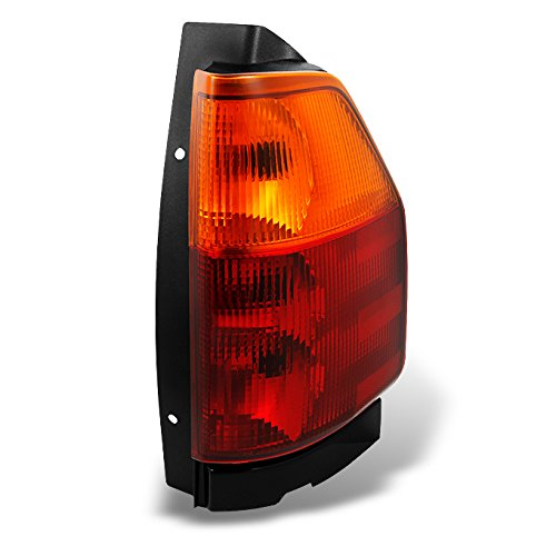 Envoy Tail Lamp Assembly (GMC Envoy Red Clear Tail Light Tail Brake Light Lamp Passenger/Right Side Replacement Assembly)