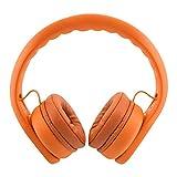 K900 On-Ear Wired Over Ear Kids Headphones Toddler Headphones with Microphone and Sharing Port Volume Limiting Girls Headphones for Kids Safe Soft Durable Boys Child Children Headphones Kids Orange