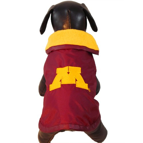 NCAA Minnesota Golden Gophers All Weather Resistant Protective Dog Outerwear, Small