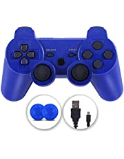 PS-3 Controller, Wireless Ps-3 Controller Remote Double Vibration Gamepad Compatible with Play-station 3 with Charging Cable