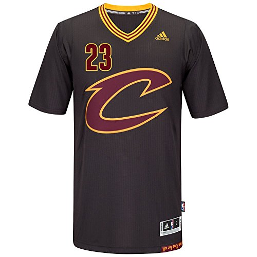 b0a621b6817e LeBron James Men s Black Cleveland Cavaliers adidas Swingman Jersey 3X-Large