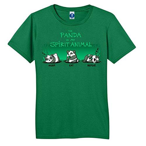 Shirt.Woot - Men's The Panda Is My Spirit Animal T-Shirt - Kelly Green - 2XL