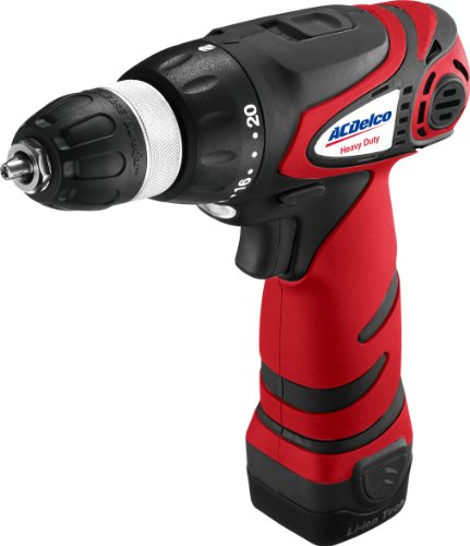 ACDelco ARD1296 12-Volt 3/8-inch 2-speed Drill, 300 in-lbs, 345/1240 RPM, 2 Battery included - 12v 2 Speed Reversible Drill