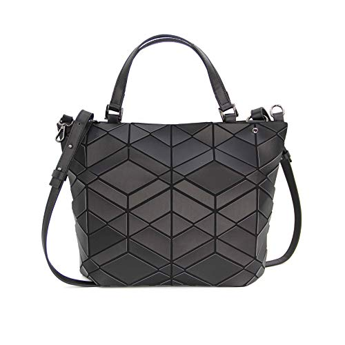 - KAISIBO Blue geometric handbag Unique Design Geometric Lattice Purses Totes Purses For Women (Diamond Black)
