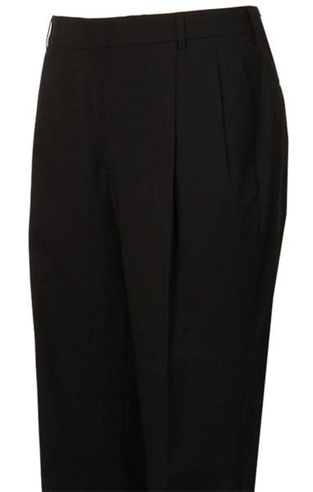 Hardwick Atticus Black H-Tech Pleated Suit Separate Pant 34 / LONG