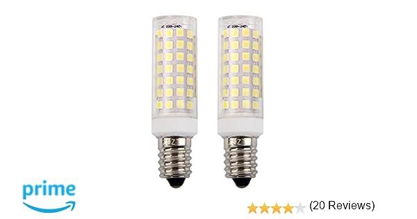 E14 bombilla LED 9W, ZSZT rosca Edison pequeña (SES), equivalente a bombilla halógena de 75W, Blanco frío 6000K, 2 Piezas