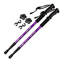 TheFitLife Nordic Walking mountaineering Anti Shock Hiking Trekking Walking Trail Poles, 2-pack, Extending Adjustable Alpenstocks, ultralight for travel mountaineering