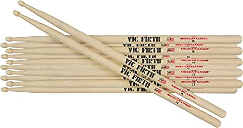 Vic Firth 6-Pair American Classic Hickory Drum Sticks Wood 55A (55a Drumsticks)