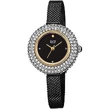 Burgi Women's Swarovski Crystal & Diamond Accented Stainless Steel Mesh Bracelet Watch - BUR236BKG