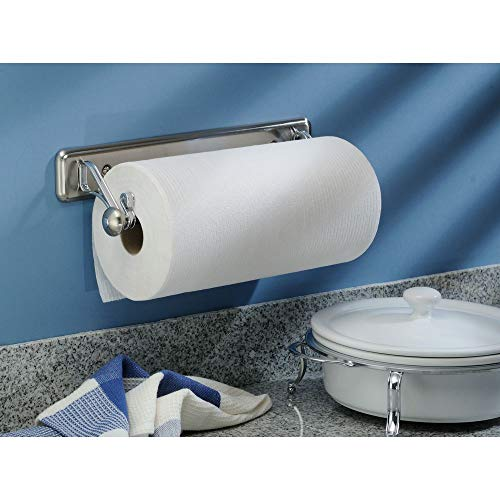 InterDesign York Lyra Wall Mounted Paper Towel Holder – Split Finish (Interdesign Towel Holder Paper)
