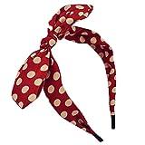 Search : Qiabao Womens Red Polka Dot Bow Pin-Up Hair Band Headband