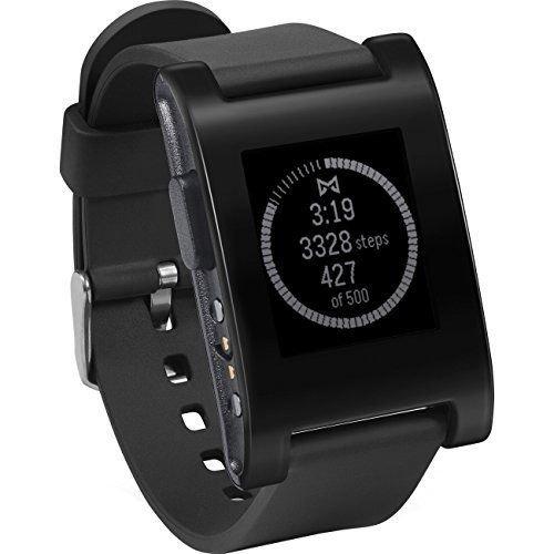 Pebble 301BL Smartwatch 33mm Plastic Black Silicone